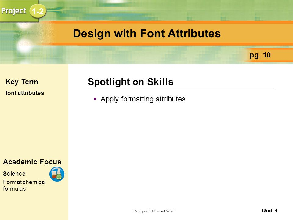 Design with Font Attributes
