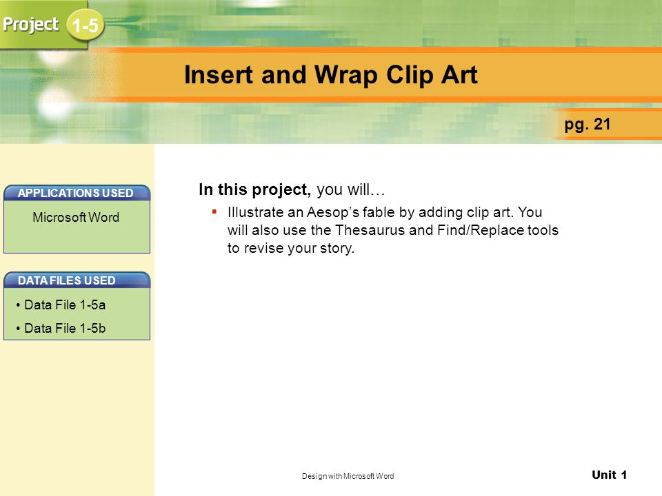 Insert and Wrap Clip Art