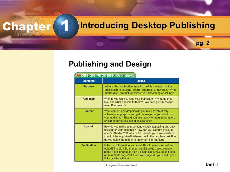 Introducing Desktop Publishing