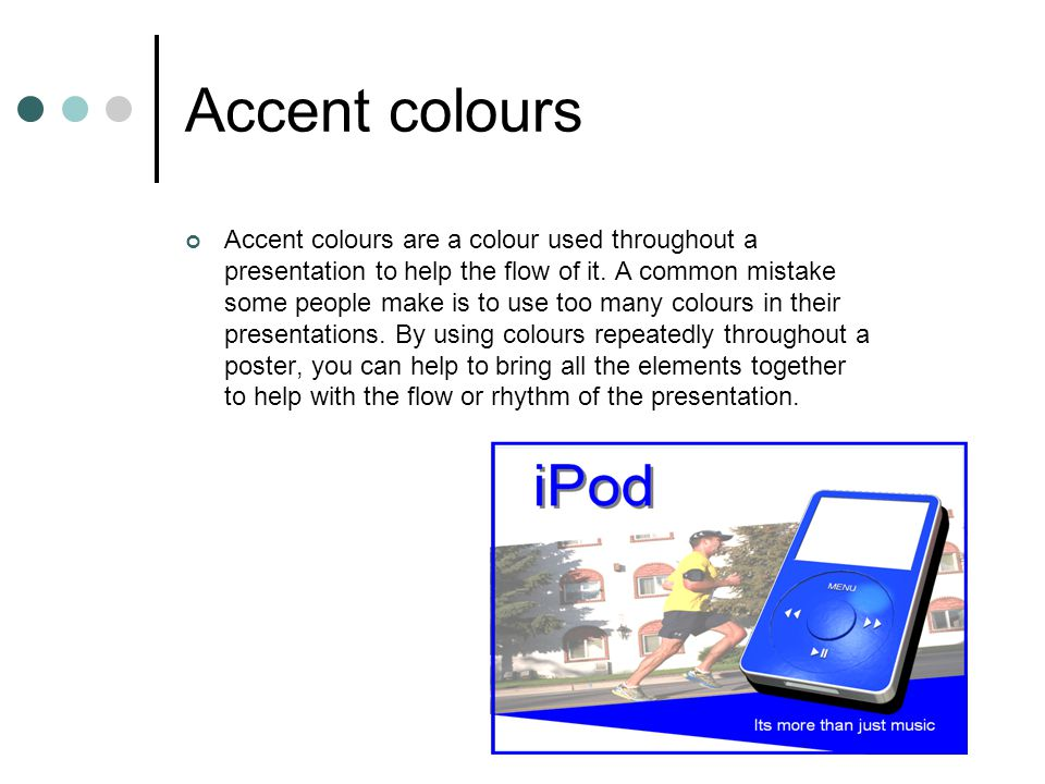 Accent colours