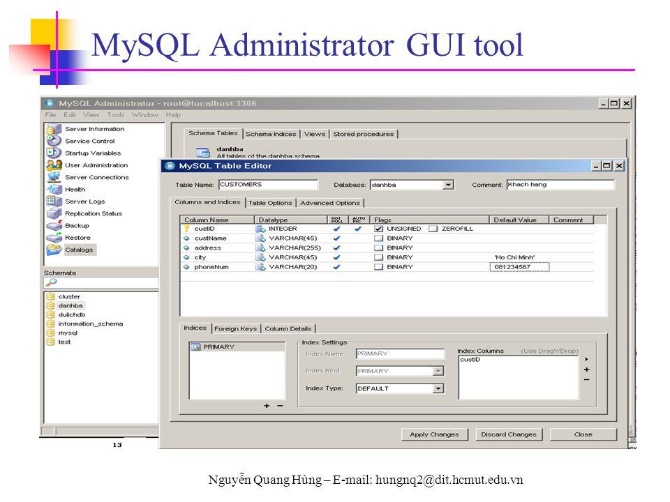 MySQL Administrator GUI tool
