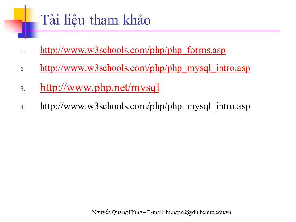 Nguyễn Quang Hùng – E-mail: hungnq2@dit.hcmut.edu.vn