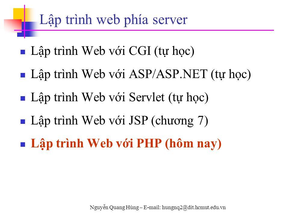 Lập trình web phía server