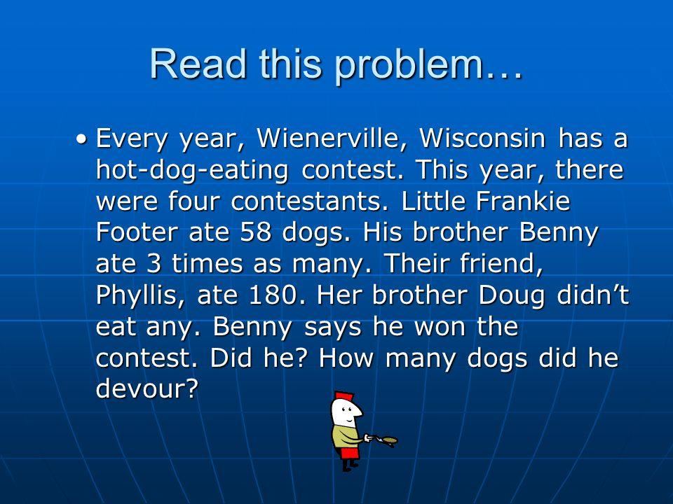 Read this problem…