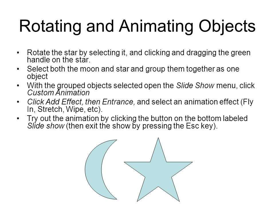 Rotating and Animating Objects