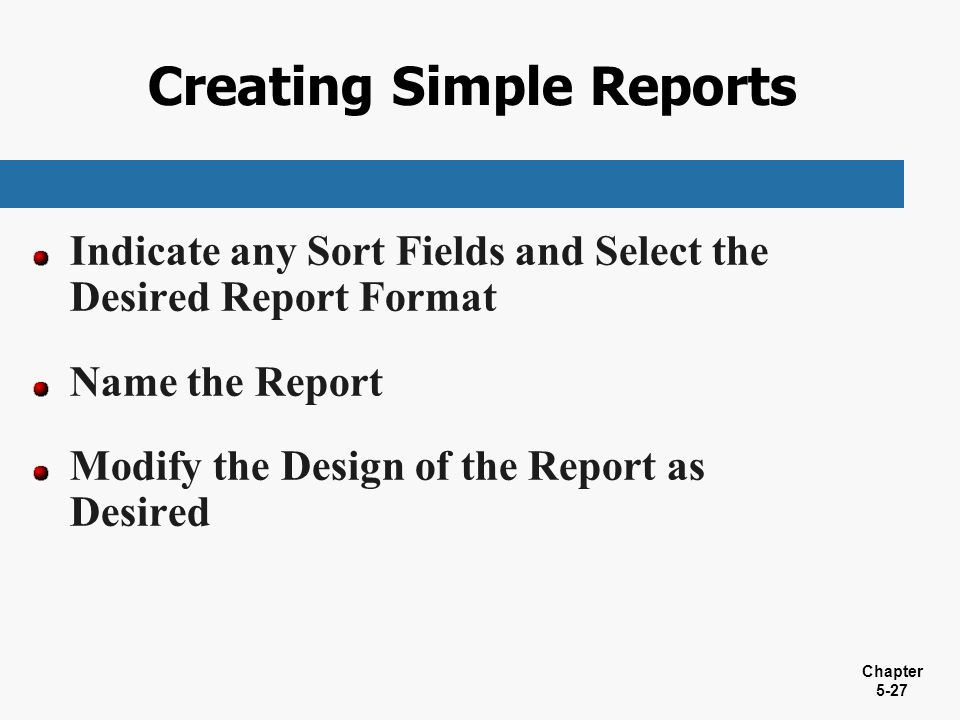 Creating Simple Reports