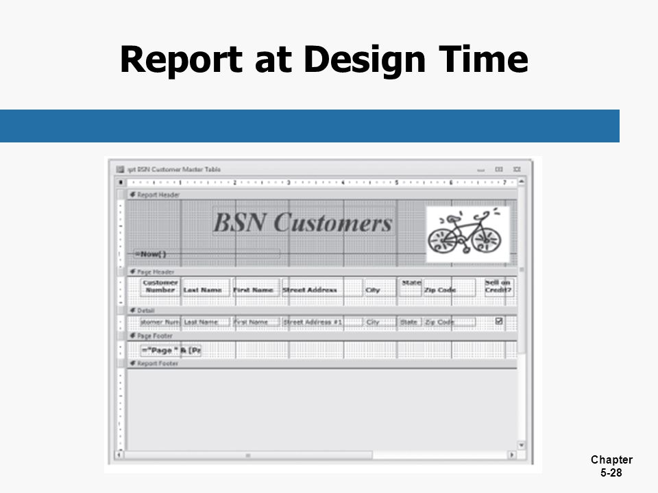Report at Design Time