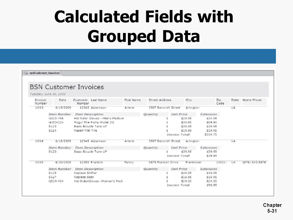 Calculated Fields with Grouped Data