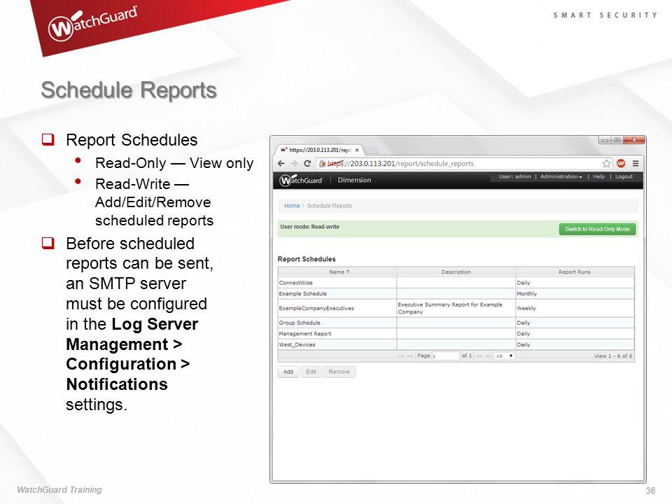 Schedule Reports Report Schedules