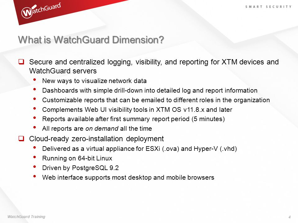 What is WatchGuard Dimension