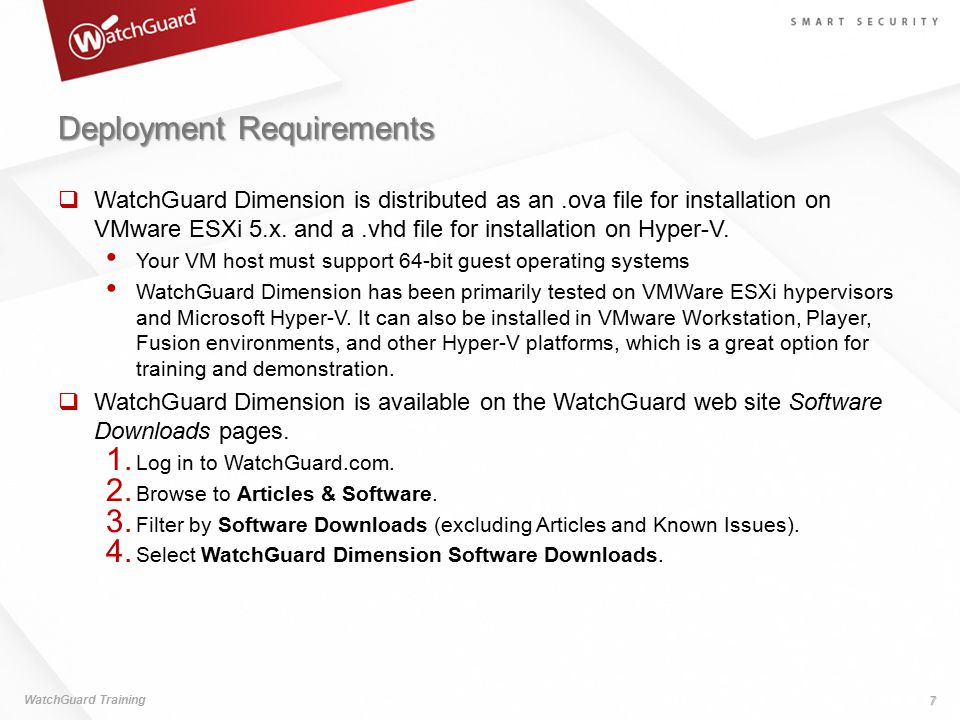 Deployment Requirements