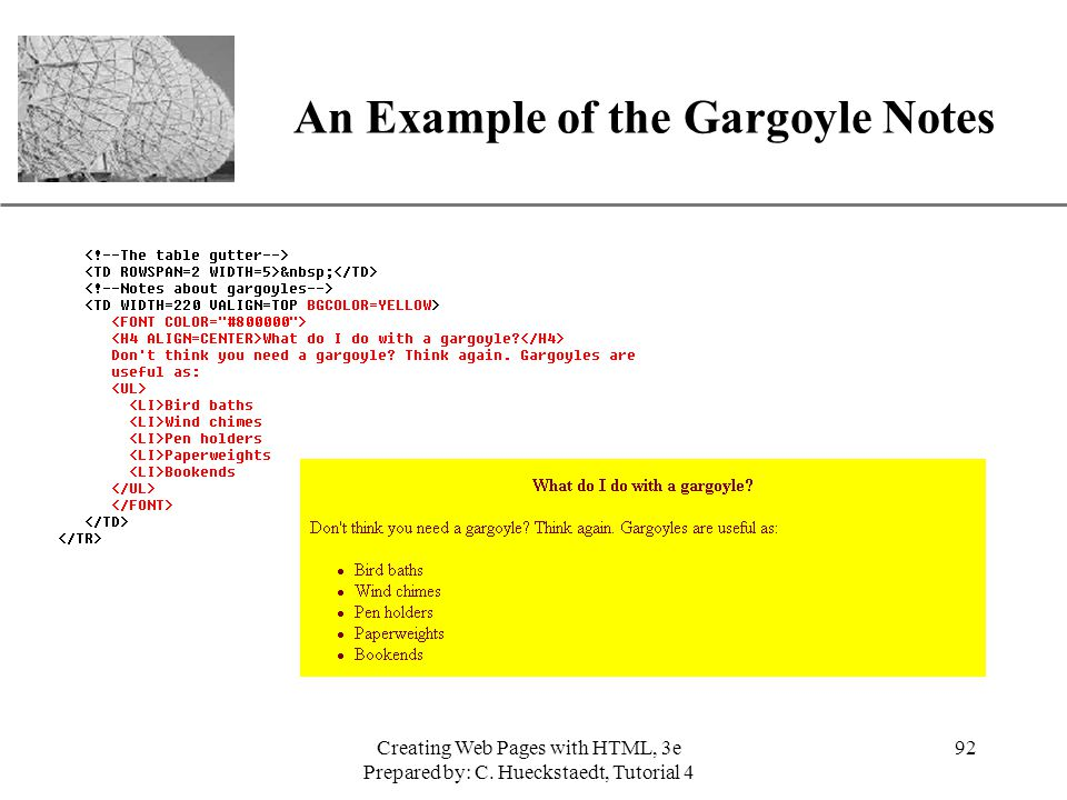 An Example of the Gargoyle Notes