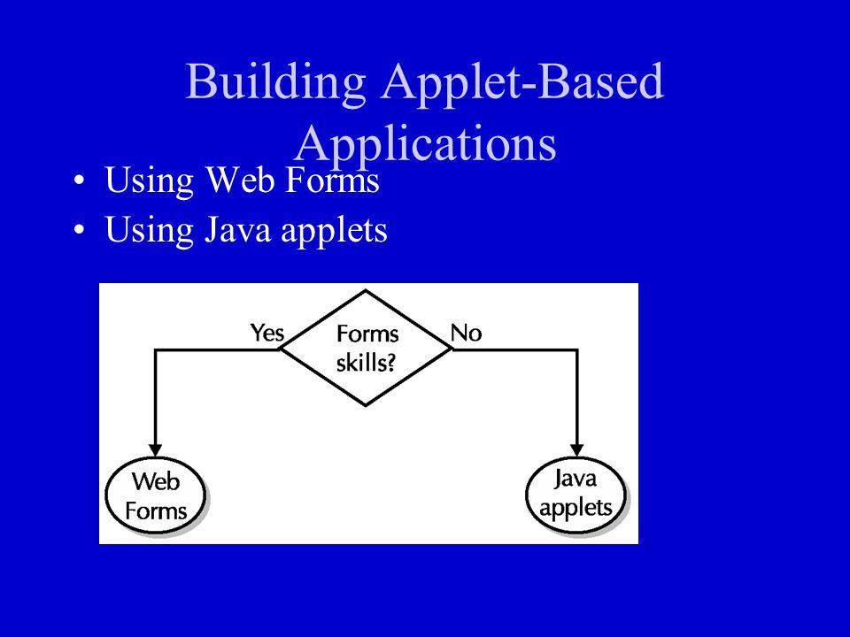 Building Applet-Based Applications