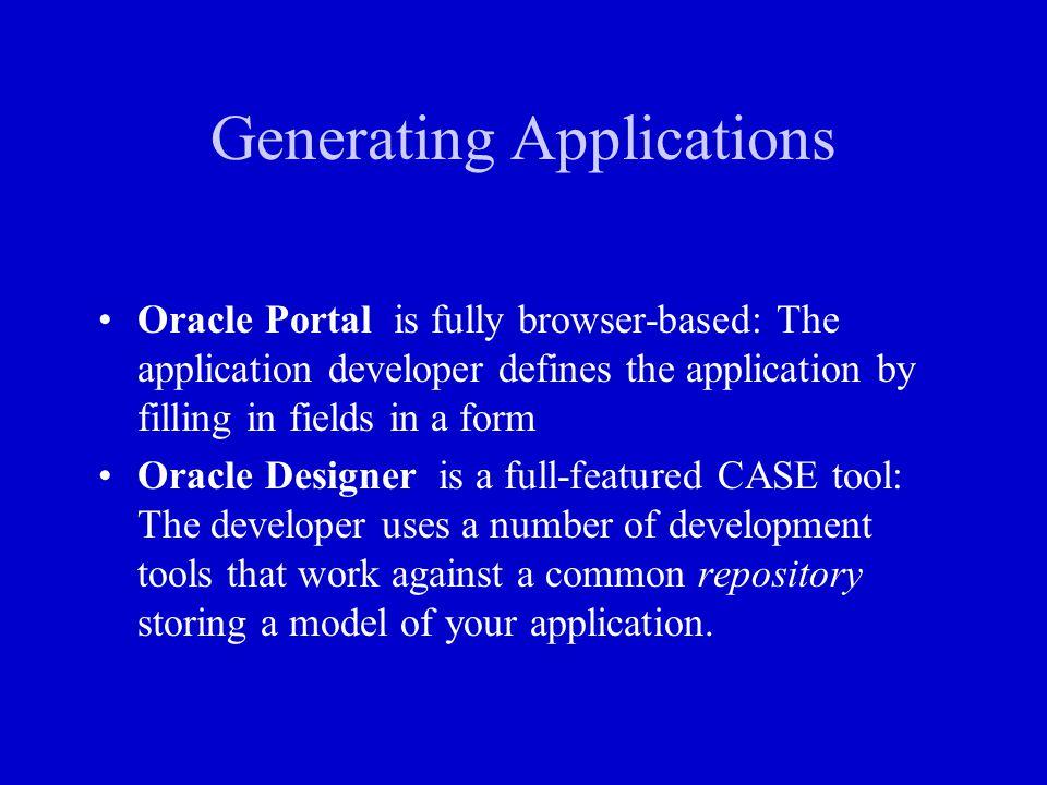 Generating Applications