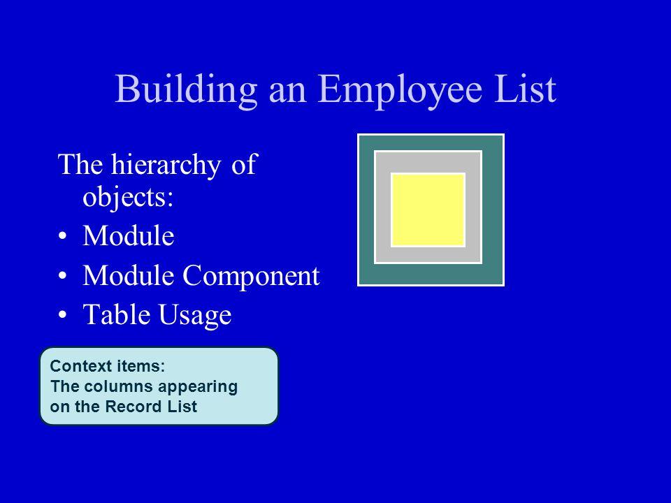 Building an Employee List