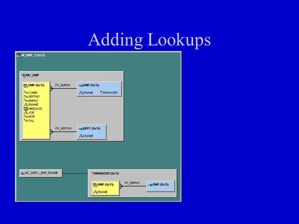Adding Lookups