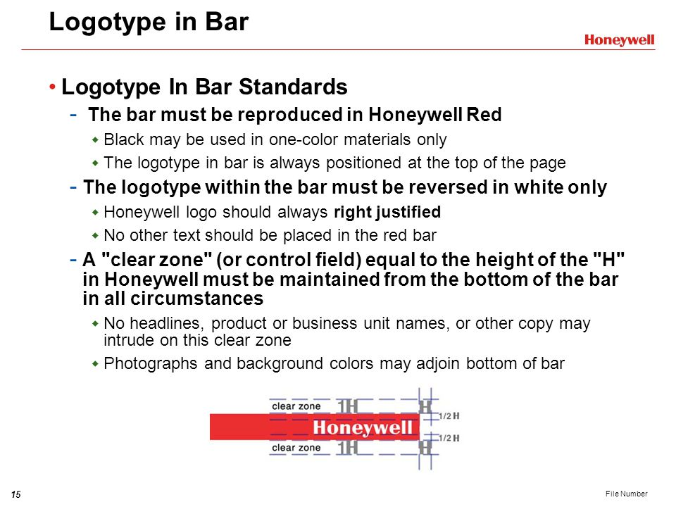 Logotype in Bar Logotype In Bar Standards