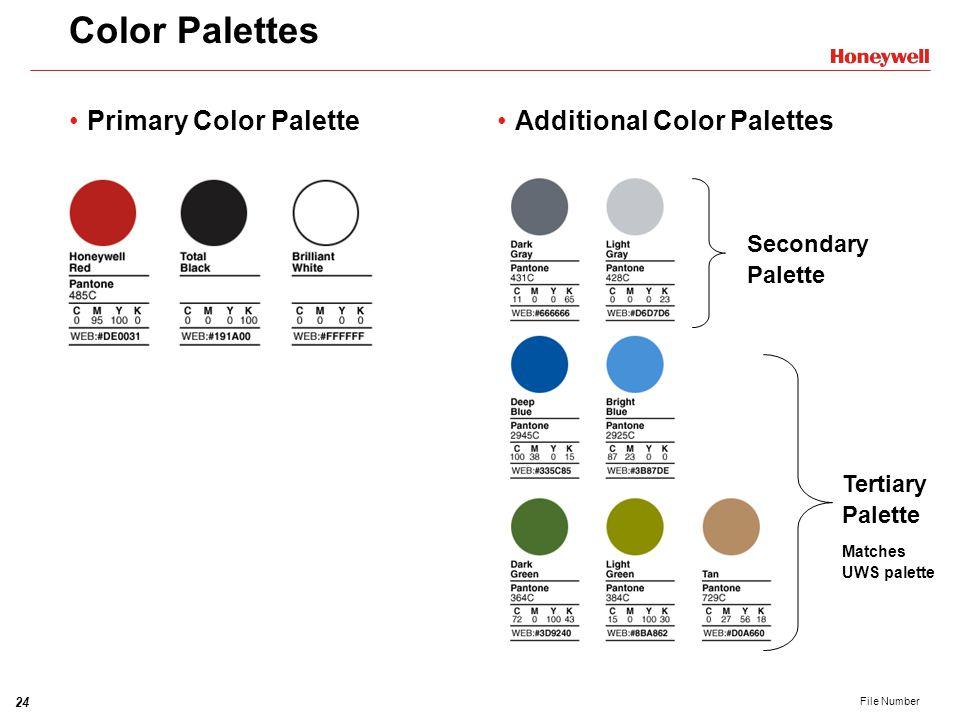 Color Palettes Primary Color Palette Additional Color Palettes