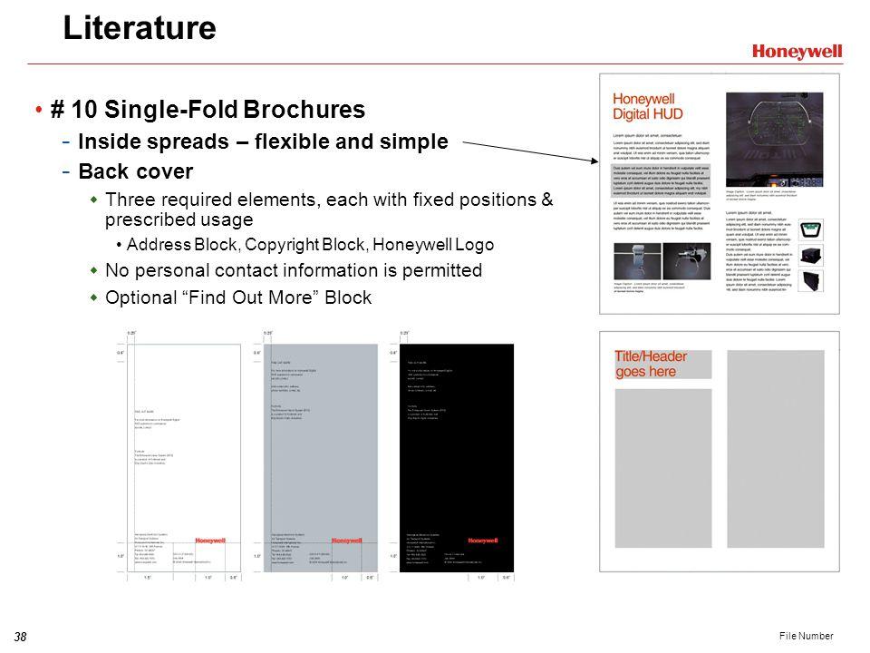 Literature # 10 Single-Fold Brochures