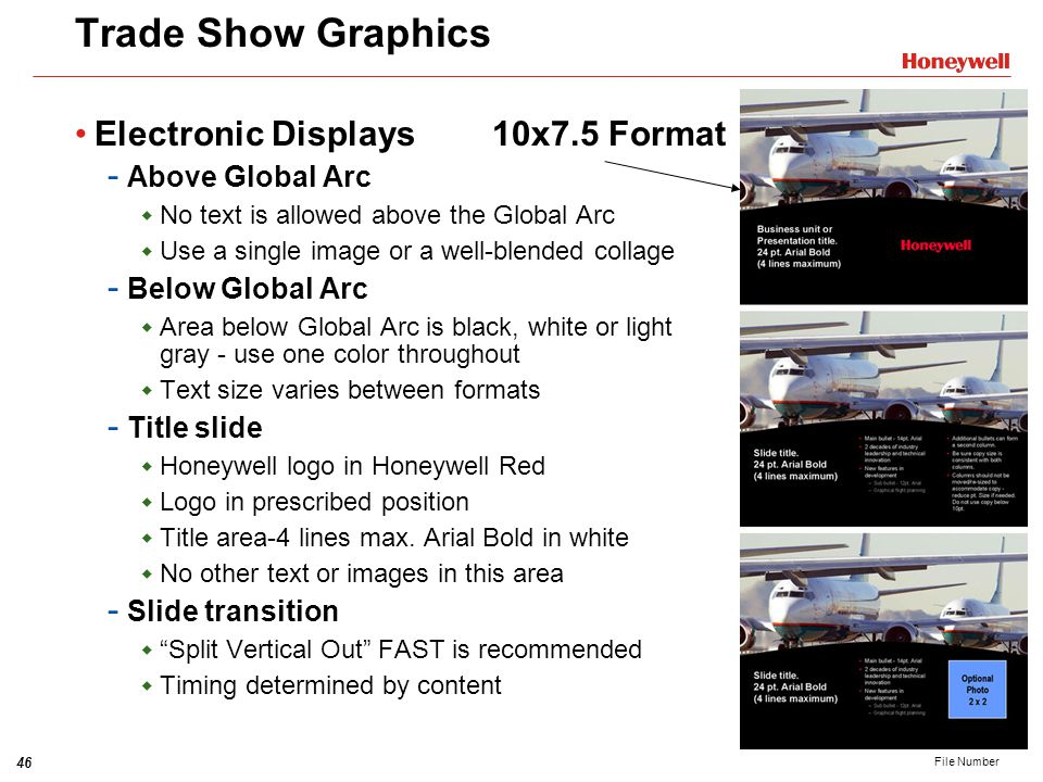 Trade Show Graphics Electronic Displays 10x7.5 Format Above Global Arc