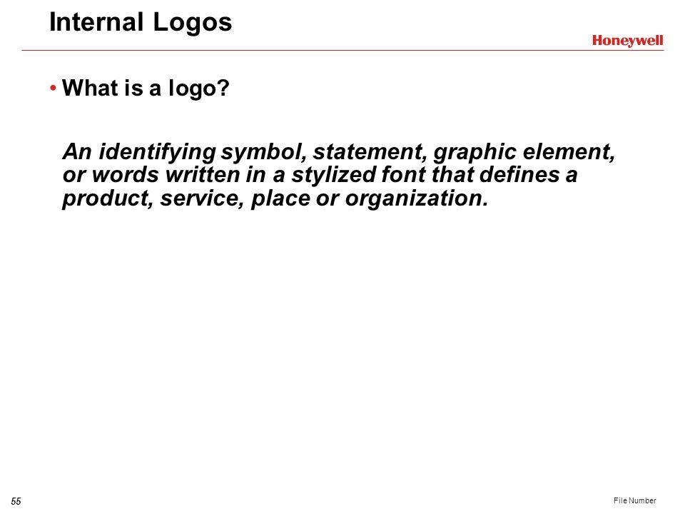Internal Logos What is a logo