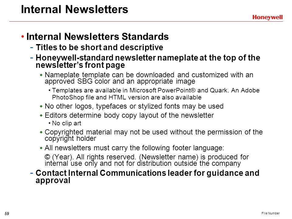 Internal Newsletters Internal Newsletters Standards