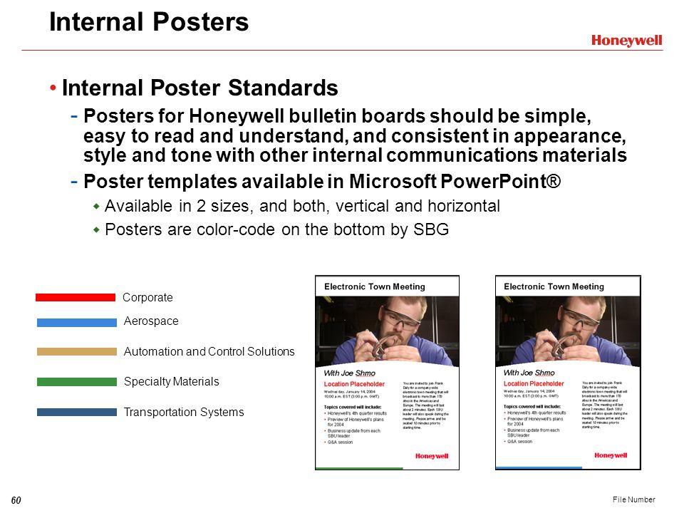 Internal Posters Internal Poster Standards