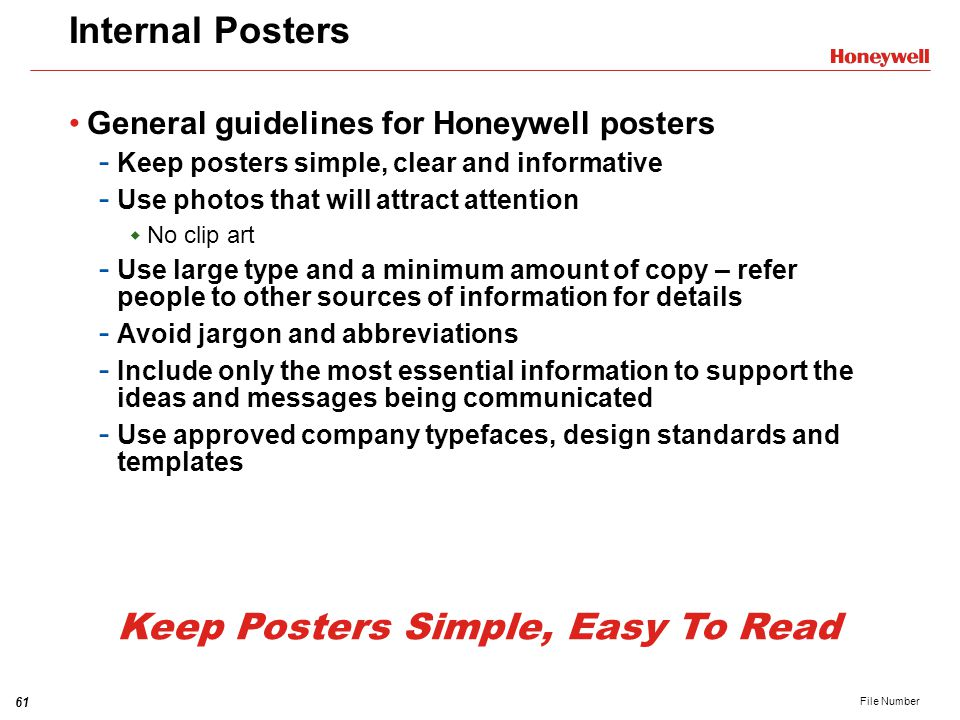 Keep Posters Simple, Easy To Read