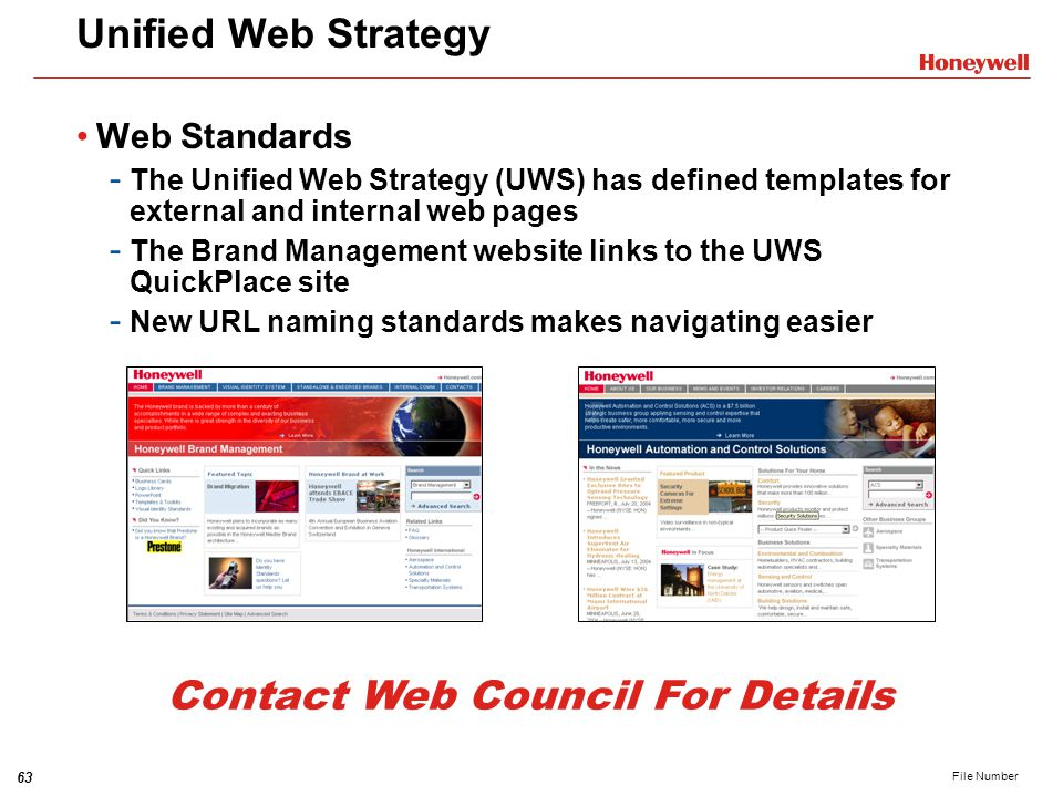 Contact Web Council For Details