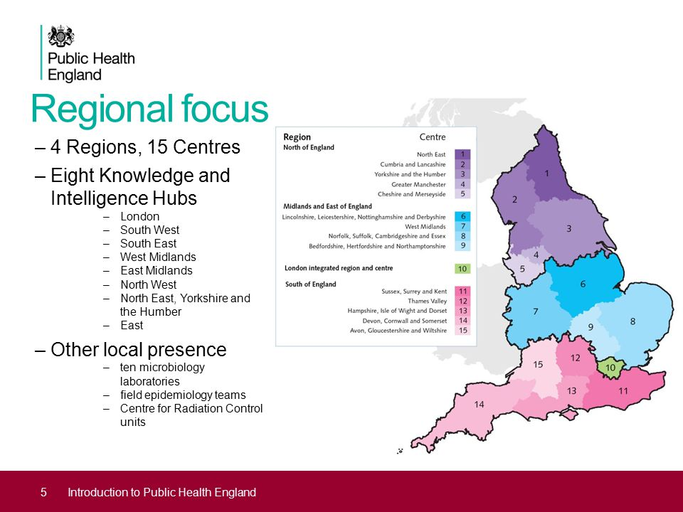 Regional focus 4 Regions, 15 Centres Eight Knowledge and