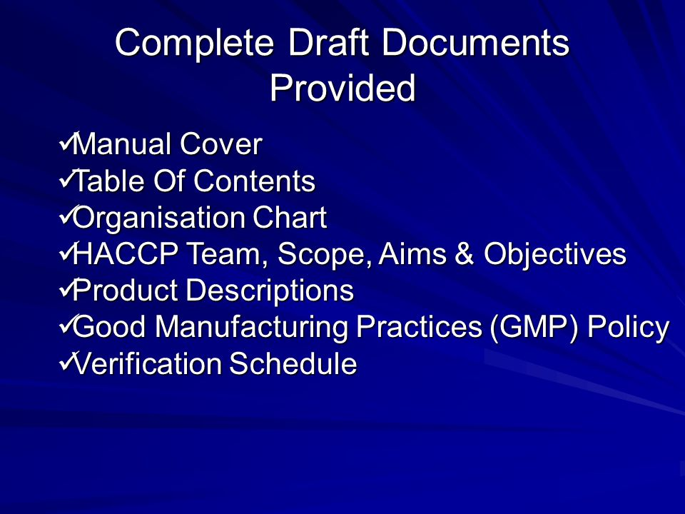 Complete Draft Documents Provided