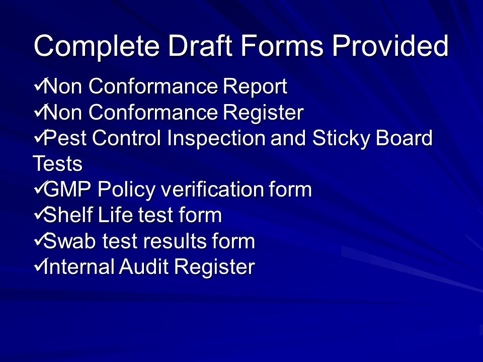 Complete Draft Forms Provided