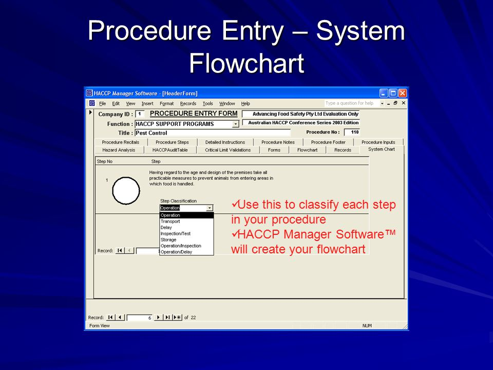 Procedure Entry – System Flowchart