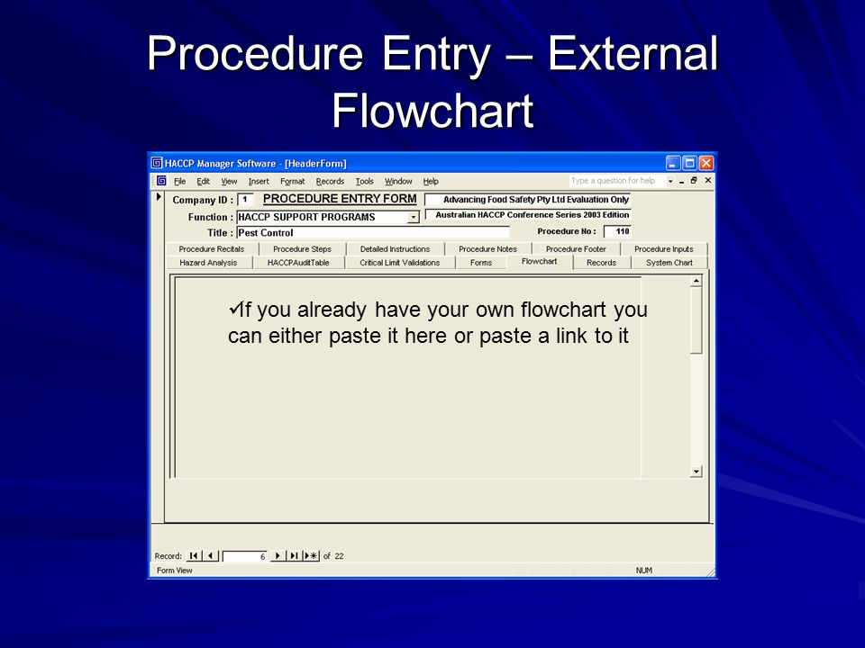 Procedure Entry – External Flowchart
