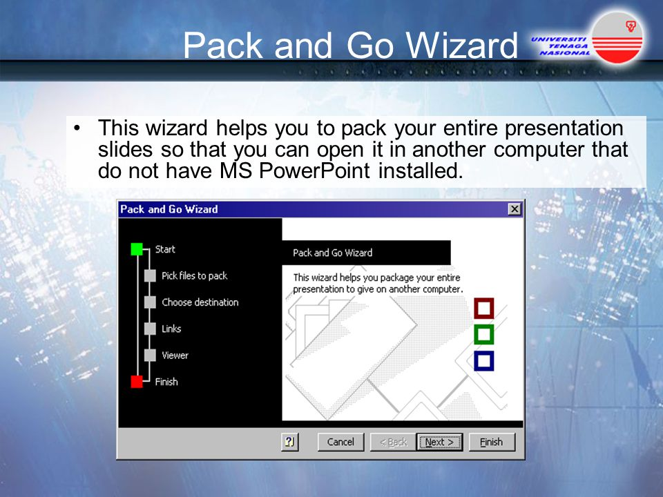 Pack and Go Wizard