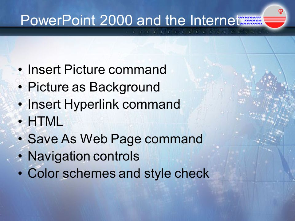 PowerPoint 2000 and the Internet