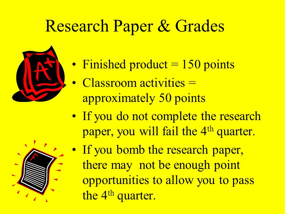Research Paper & Grades