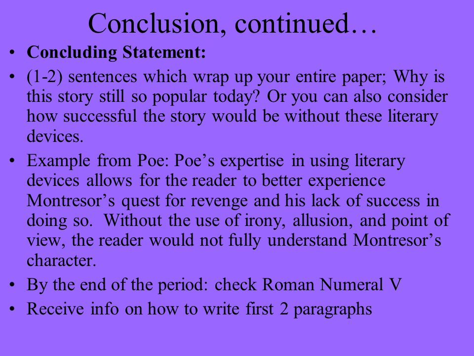Conclusion, continued…