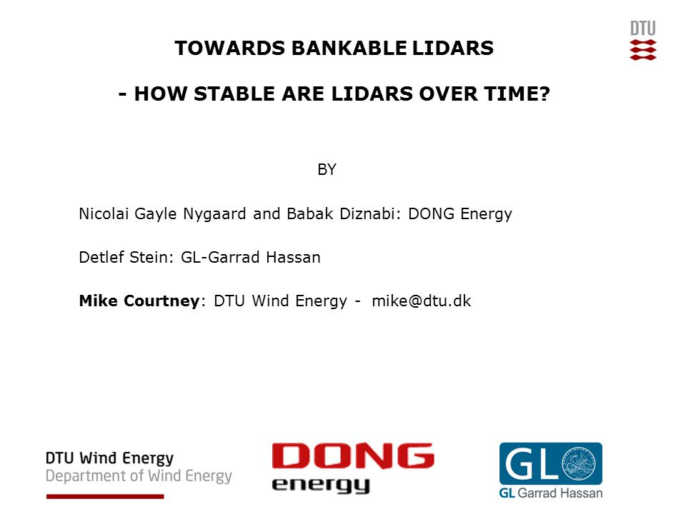 TOWARDS BANKABLE LIDARS - HOW STABLE ARE LIDARS OVER TIME