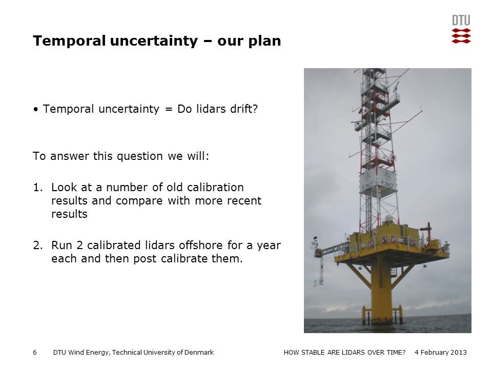 Temporal uncertainty – our plan