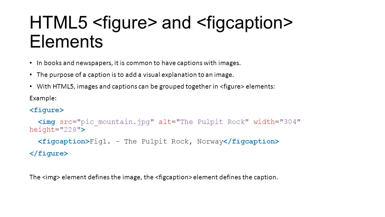 HTML5 <figure> and <figcaption> Elements