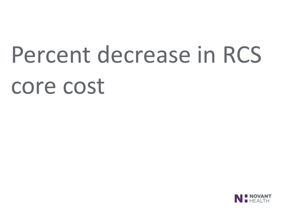 Percent decrease in RCS core cost