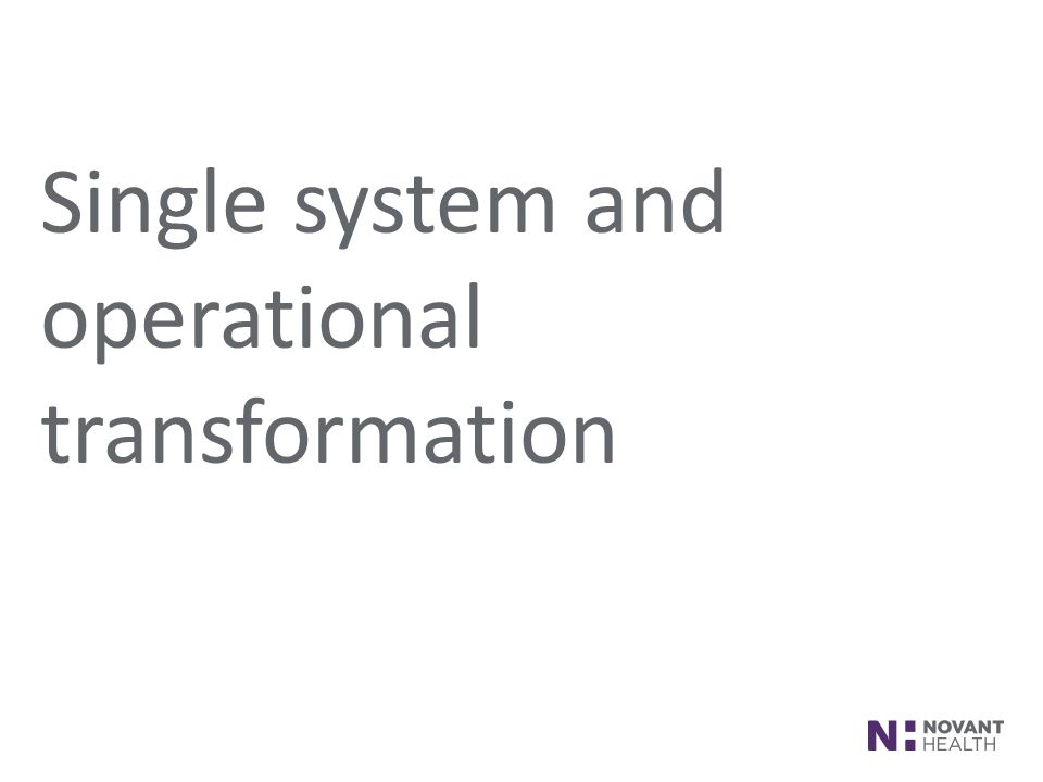 Single system and operational transformation