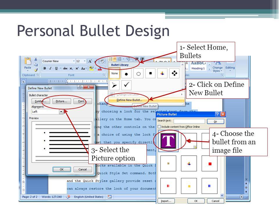 Personal Bullet Design