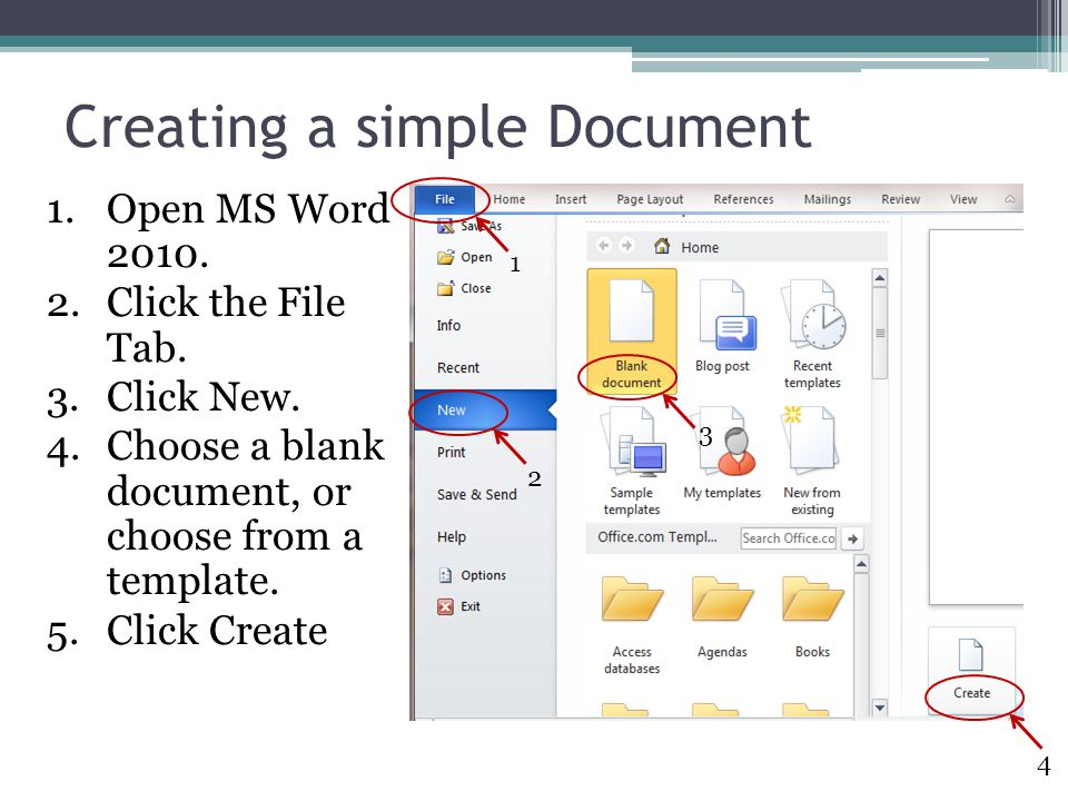 Creating a simple Document