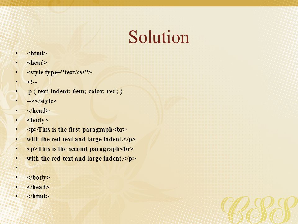 Solution <html> <head> <style type= text/css >