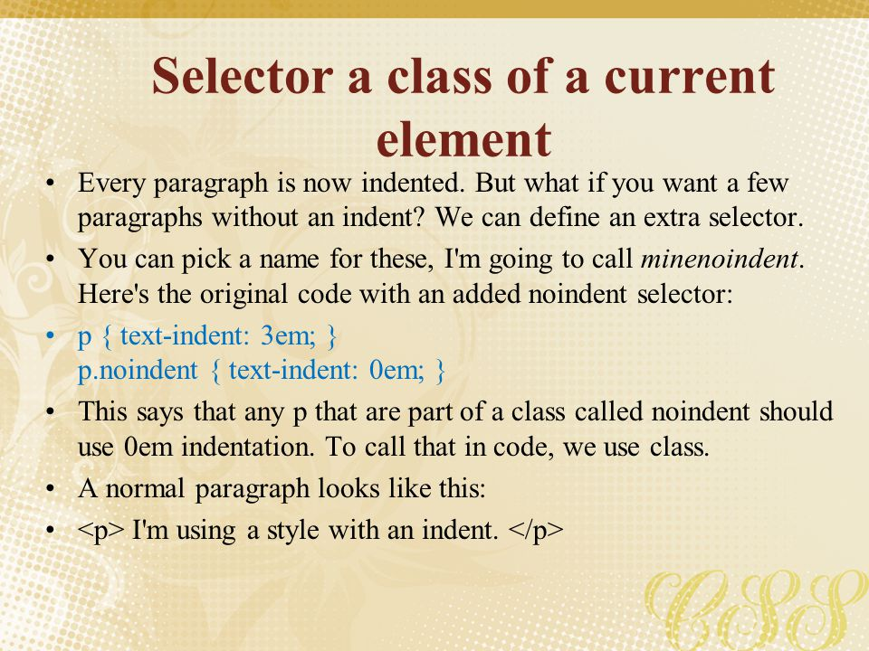 Selector a class of a current element