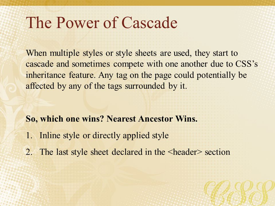 The Power of Cascade