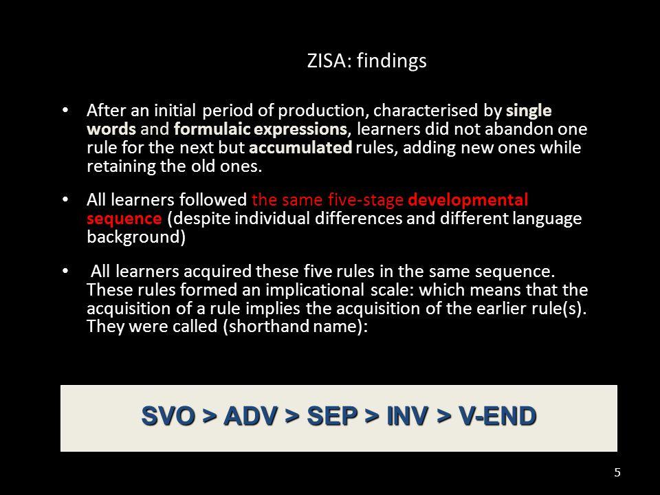 SVO > ADV > SEP > INV > V-END