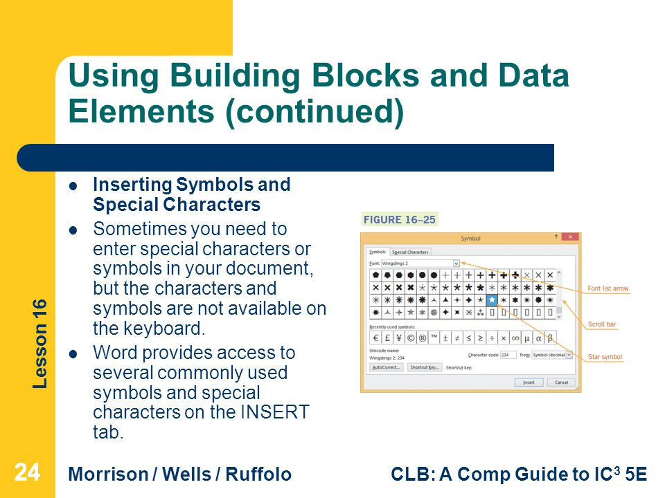 Using Building Blocks and Data Elements (continued)